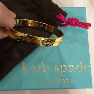 Kate Spade Engraved Gold You and Me Idiom Bangle